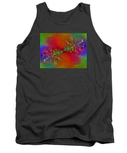 Tank Top featuring the digital art Abstract Cubed 371 by Tim Allen