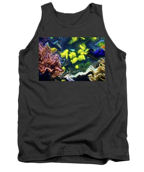 Abstract Dancing Colorful Ish Tank Top