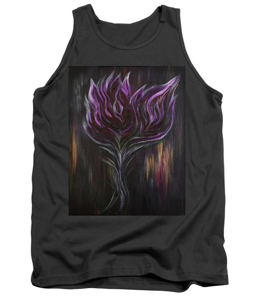 Abstract Dark Rose Tank Top