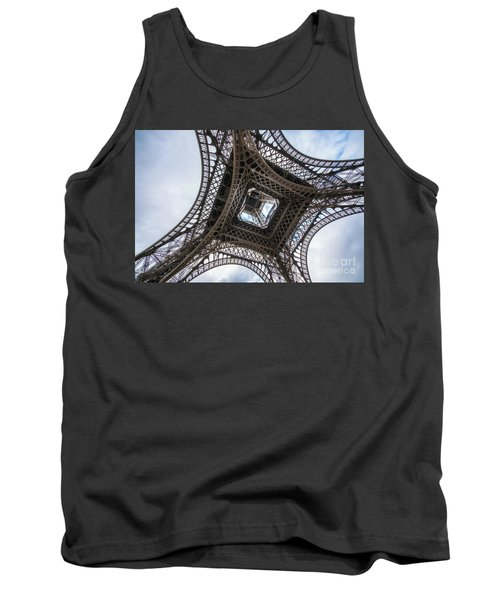 Abstract Eiffel Tower Looking Up 2 Tank Top by Mike Reid