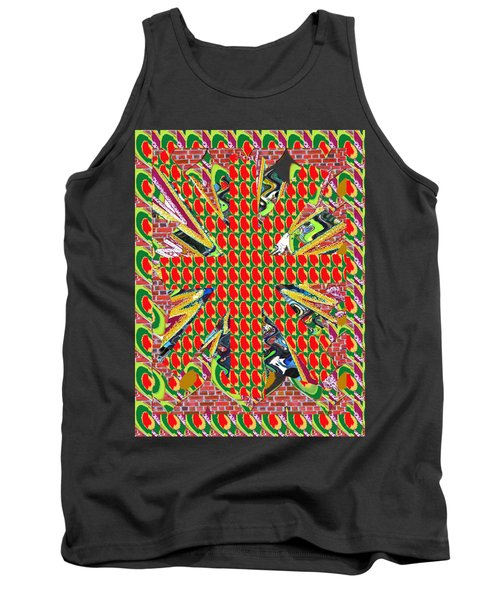 Abstract Flowers Floral Leaf Leaves Colorful Modern Art Navinjoshi Fineartamerica Pixels Tank Top by Navin Joshi