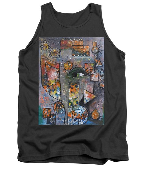 Abstract Ganesha  Tank Top by Prerna Poojara