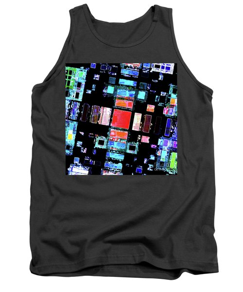 Tank Top featuring the digital art Abstract Geometric Art by Phil Perkins