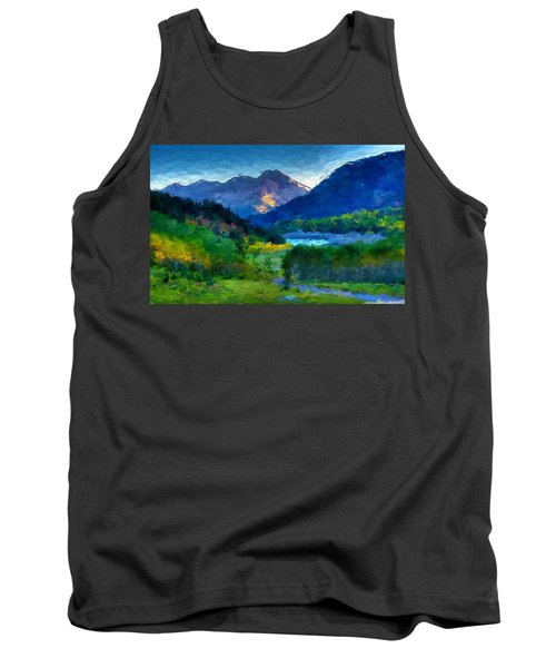 Abstract Mountain Vista  Tank Top by Anthony Fishburne