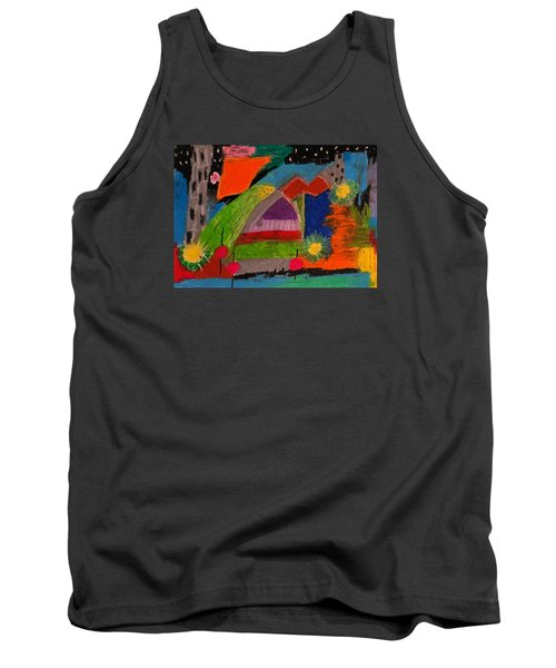 Abstract No. 7 Inner Landscape Tank Top by Maria  Disley