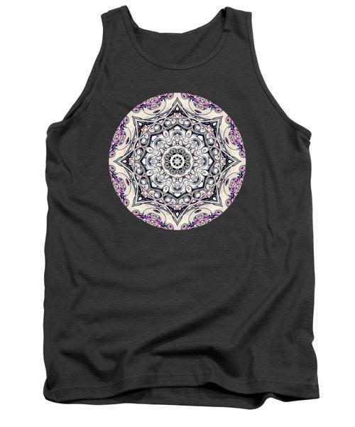 Abstract Octagonal Mandala Tank Top by Phil Perkins