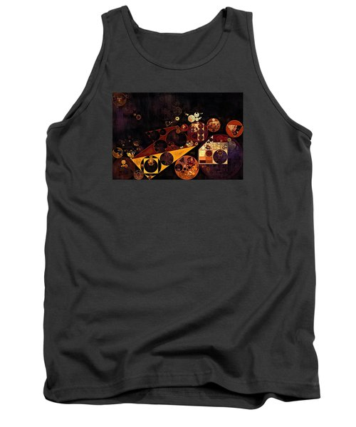 Tank Top featuring the digital art Abstract Painting - Fire Bush by Vitaliy Gladkiy