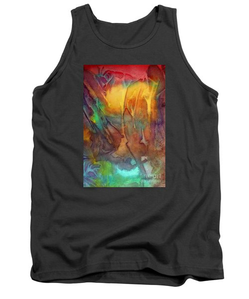 Tank Top featuring the painting Abstract Reflection by Allison Ashton