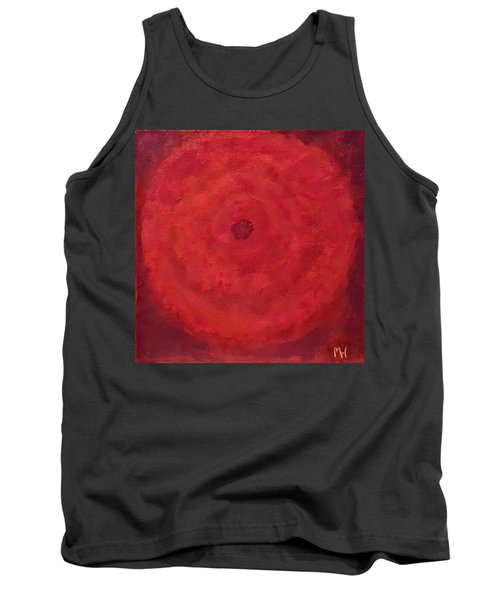 Abstract Rose Tank Top by Margaret Harmon