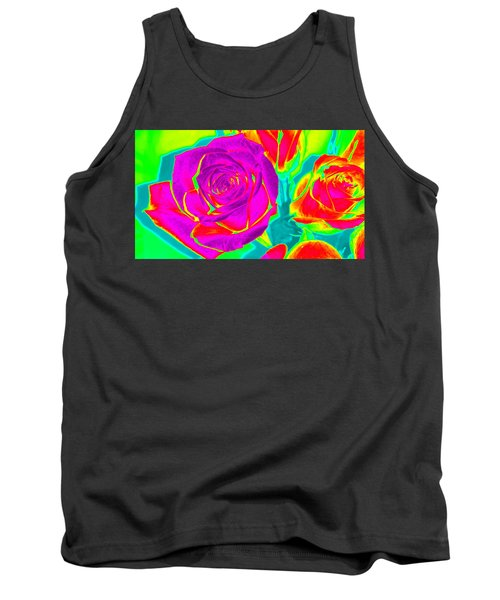 Blooming Roses Abstract Tank Top