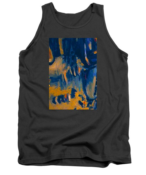 Tank Top featuring the painting Abstract Sail by Nop Briex