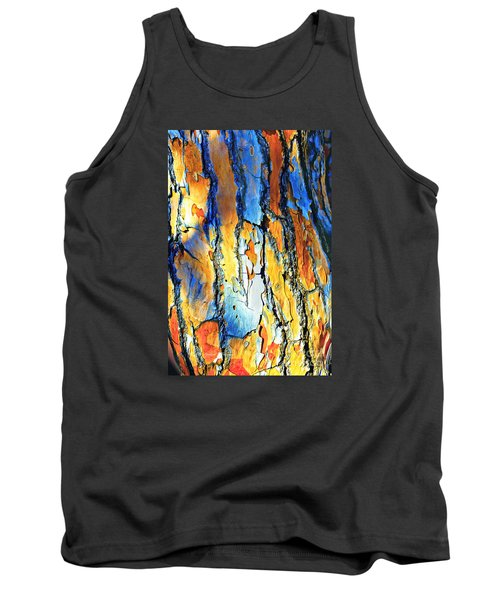 Abstract Saturated Tree Bark Tank Top