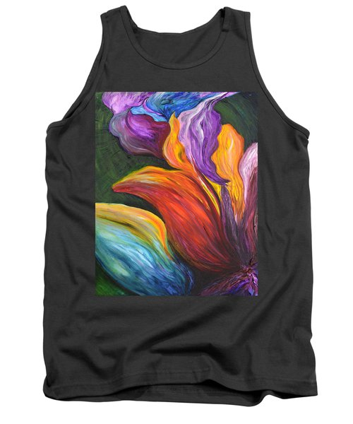 Abstract Vibrant Flowers Tank Top