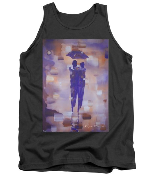 Abstract Walk In The Rain Tank Top by Raymond Doward