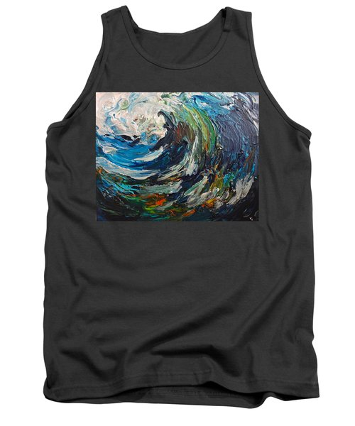Abstract Wild Wave  Tank Top