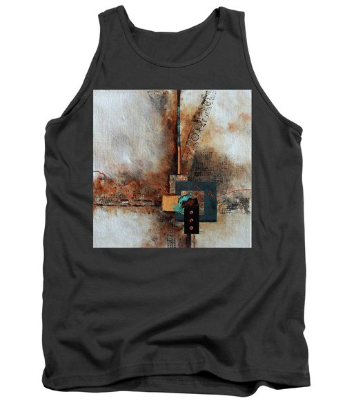 Tank Top featuring the painting Abstract With Stud Edge by Joanne Smoley