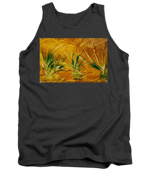 Abstract Yellow, Green Fields   Tank Top