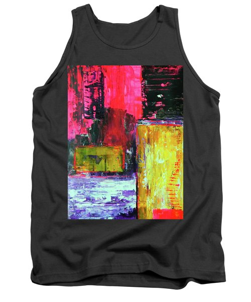 Tank Top featuring the painting Abstractor by Everette McMahan jr