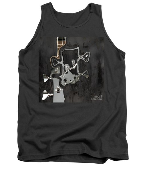 Tank Top featuring the digital art Abstrait En Sol Majeur  by Variance Collections