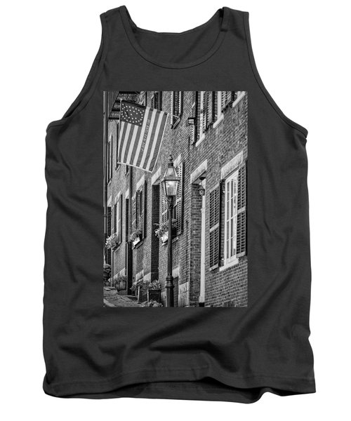 Acorn Street Details Bw Tank Top by Susan Candelario