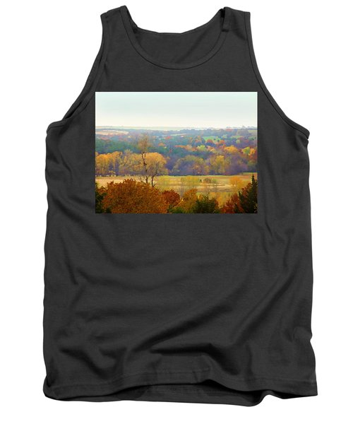 Across The River In Autumn Tank Top