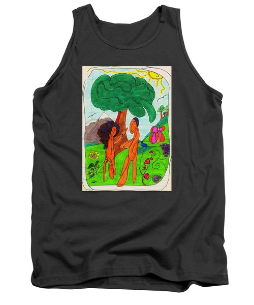 Adam And Eve Tank Top by Martin Cline