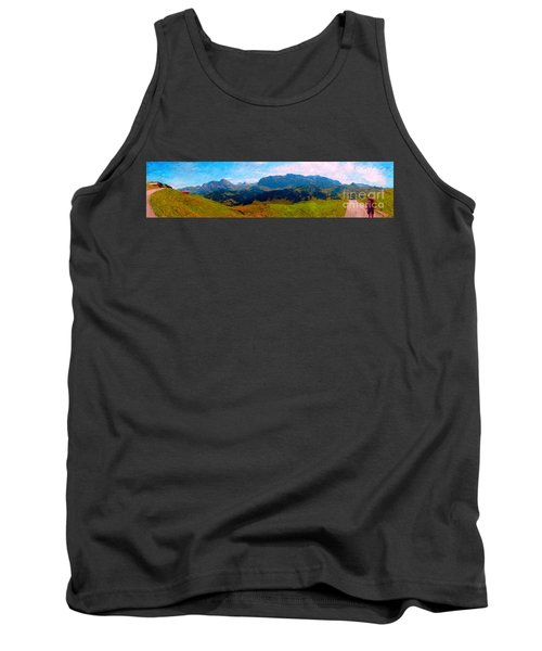 Adelboden With Hiker Tank Top by Gerhardt Isringhaus