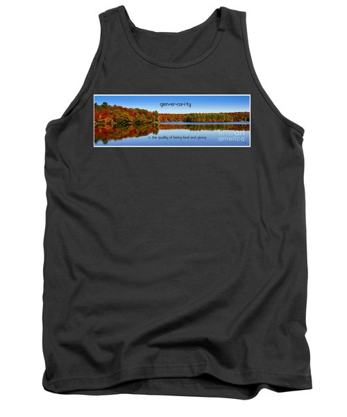 Tank Top featuring the photograph Adirondack October Generosity by Diane E Berry