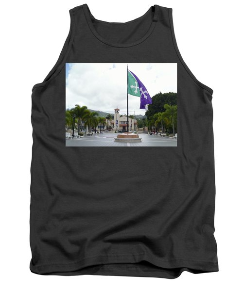 Adjuntas, Puerto Rico Flag Tank Top