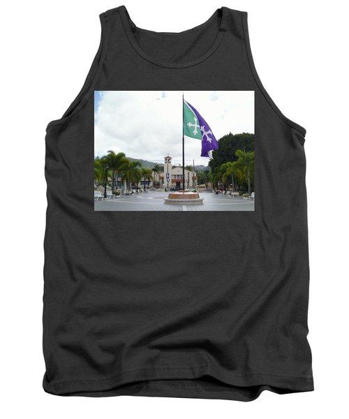 Adjuntas, Puerto Rico Flag Tank Top
