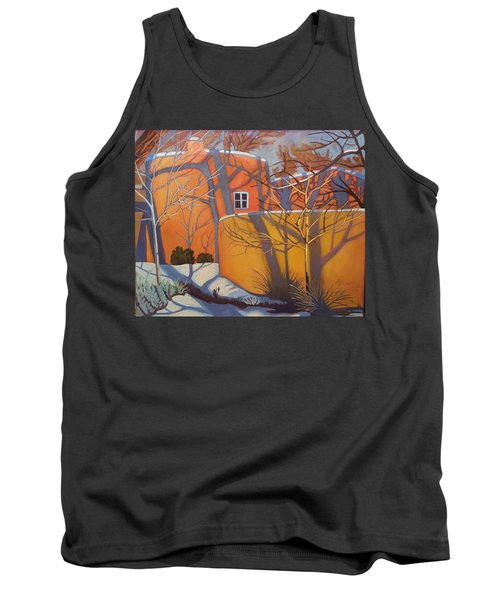 Adobe, Shadows And A Blue Window Tank Top by Art West