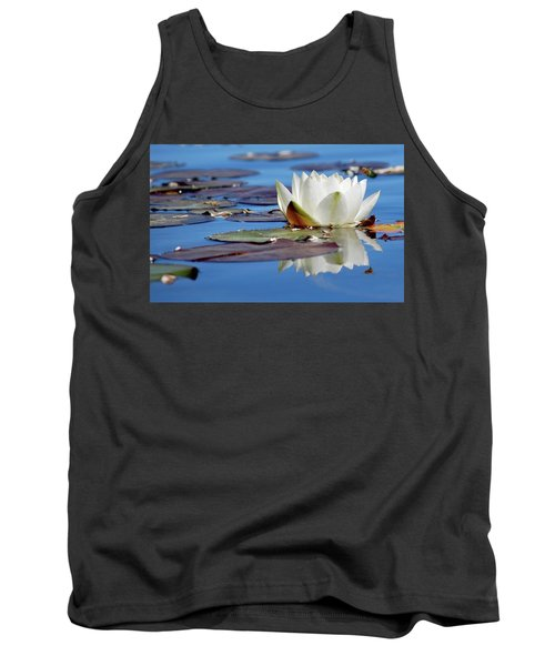 Tank Top featuring the photograph Adoring White by Amee Cave