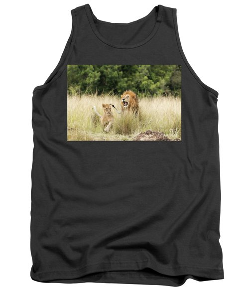 Adult Lion And Cub In The Masai Mara Tank Top
