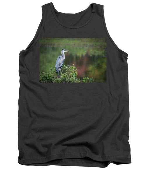 Advice From A Great Blue Heron Tank Top