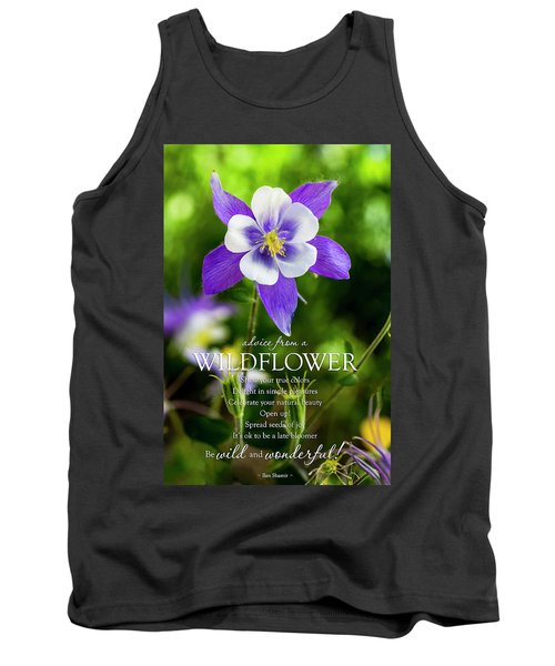Advice From A Wildflower Columbine Tank Top by Teri Virbickis
