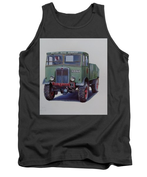 Tank Top featuring the painting Aec Matador Brs. by Mike Jeffries