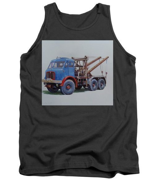 Tank Top featuring the painting Aec Militant Wrecker. by Mike Jeffries