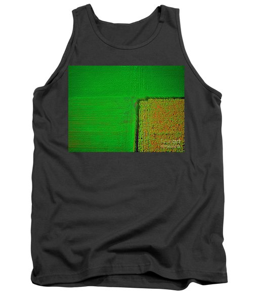 Aerial Farm Mchenry Il  Tank Top by Tom Jelen