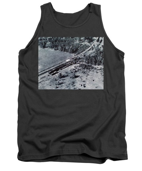 Aerial Train Wreck Tank Top