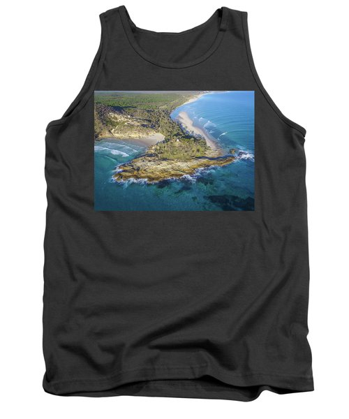 Aerial View Of North Point, Moreton Island Tank Top