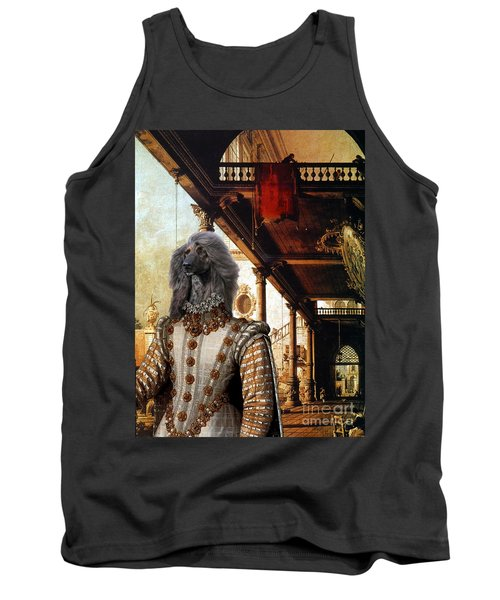 Afghan Hound-capriccio Of Colonade And The Courtyard Of A Palace Canvas Fine Art Print Tank Top