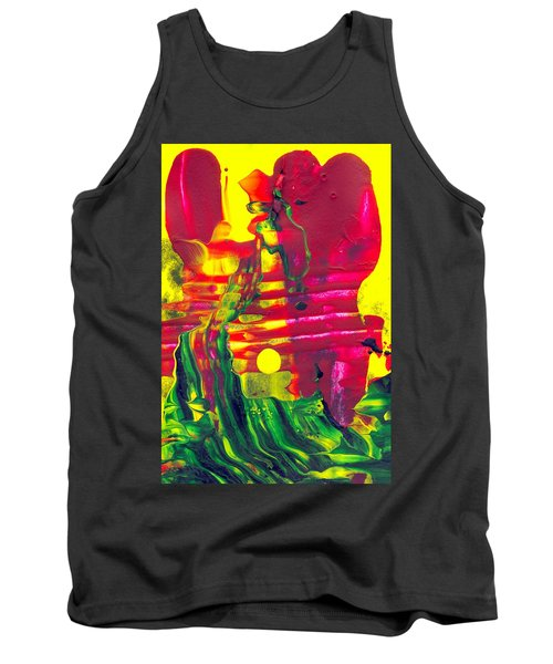 Africa - Abstract Colorful Mixed Media Painting Tank Top