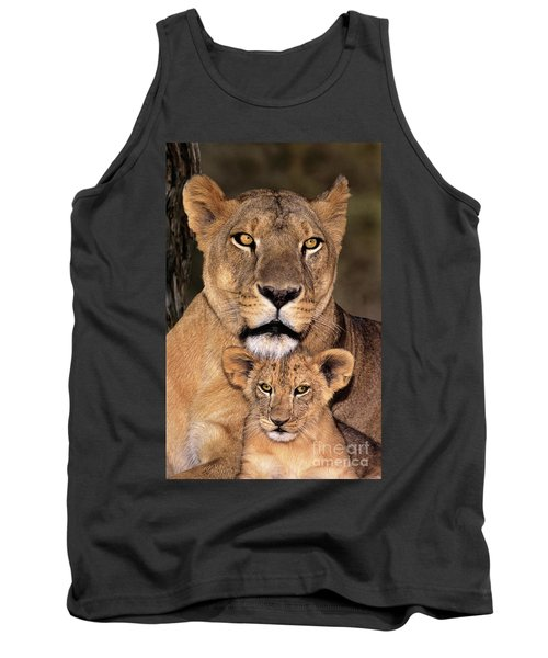 Tank Top featuring the photograph African Lions Parenthood Wildlife Rescue by Dave Welling