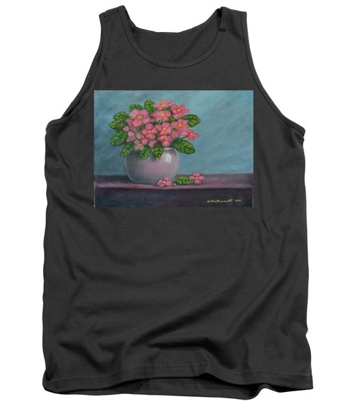 Tank Top featuring the painting African Violets by Kathleen McDermott
