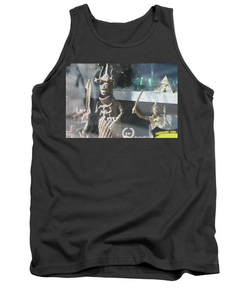 African Warrior Figurine Tank Top