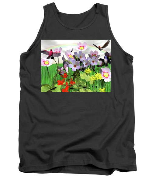 After The Rain Comes The Rainbow Tank Top by Michele Wilson