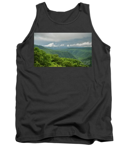 Tank Top featuring the photograph After The Rain - The Bluestone Gorge At Pipestem State Park by Kerri Farley