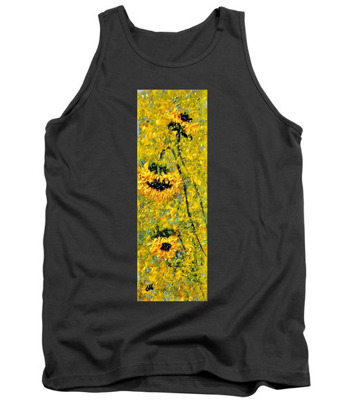 Tank Top featuring the painting After The Rain  Vi by Cristina Mihailescu