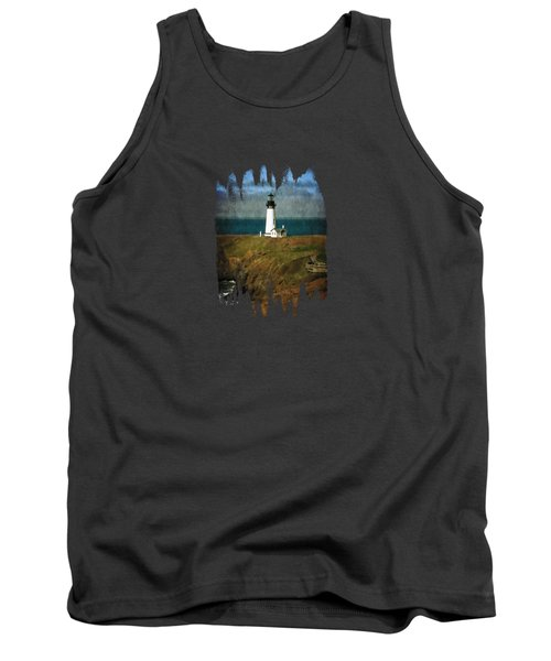 Afternoon At The Yaquina Head Lighthouse Tank Top