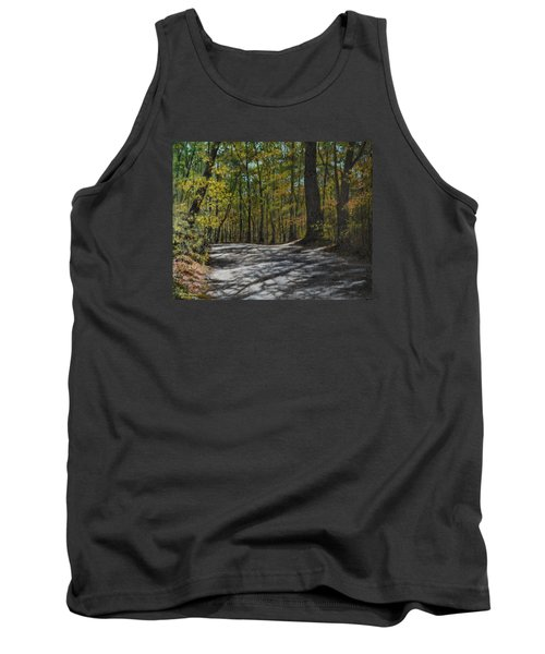 Tank Top featuring the painting Afternoon Shadows - Oconne State Park by Kathleen McDermott